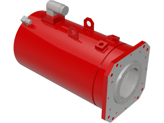 Hollow shaft servo motors